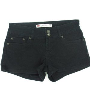 LEVIS Shorty Short Black Denim Jean Shorts